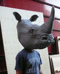 rhinoceros puppet head